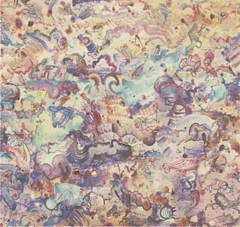 "Herbert Creecy The Eye and Birds acrylic on canvas 69 x 66"" 1972"
