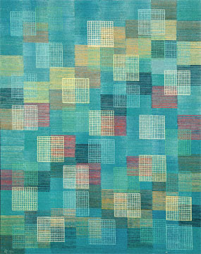 Oskar Fischinger Linear Squares oil on canvas 24 x 30 inches 1961