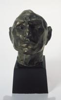"Henri Gaudier-BrzeskaThe Idiotbronze6 3/4 x 5 3/4 x 6 5/8""c. 1912cast c. 1930Albright-Knox Art Gallery"
