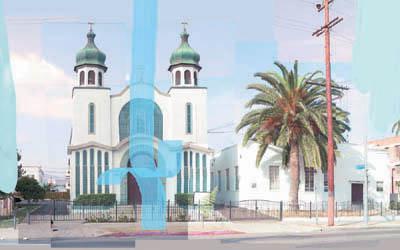 "Steven Criqui, ""Untitled (Day Church)"""