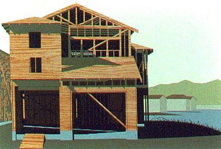 "Construction #11acrylic on panel24 x 36""2001"