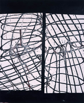 Ed Moses#1 Brancoacrylic on wood panel66 x 54 inches2003