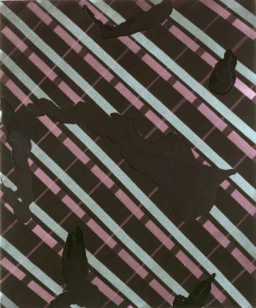 """Ed MosesVenetian 4acrylic on canvas72 x 60""""1999"""
