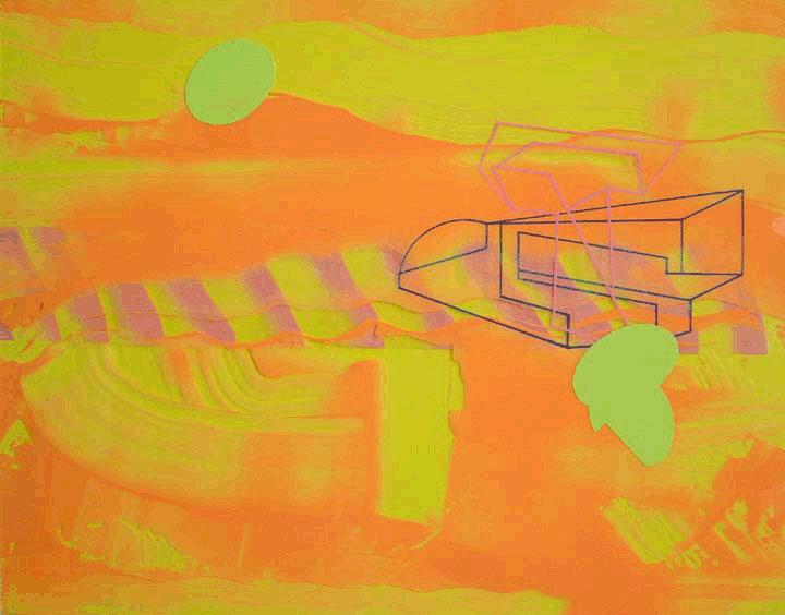 "Roland ReissEncantada(Remax Series)acrylic on mylar 19 x 24""2003"