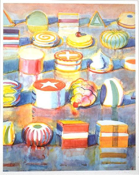 Wayne ThiebaudDisplay Rowscolor lithograph37½ x 28¾ inches1990