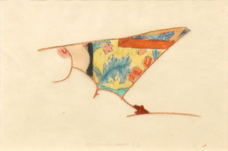 Tom WesselmannStudy for Bedroom Painting #73colored pencil on tracing paper5⅛ x 3⅜ inches1983